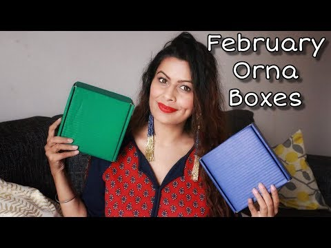 Orna Boxes February 2019 | Unboxing | Jewellery Subscription Box | Kavya K