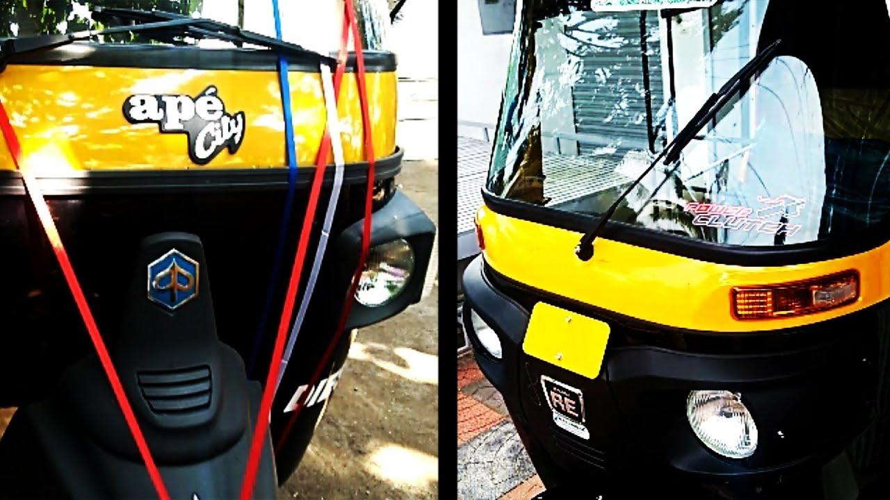 Comparison Between Bajaj Re Compact Diesel And Piaggio Ape City