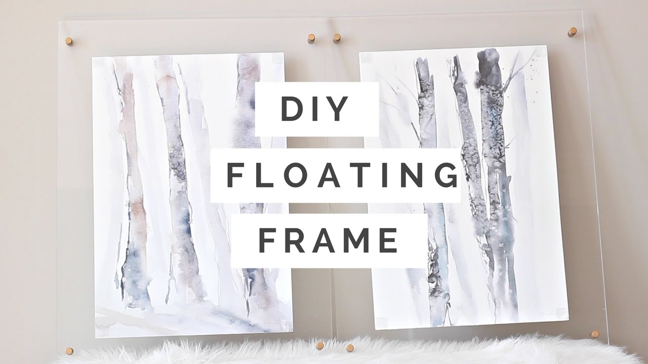 DIY Floating Frame 2016 | Nikki G - YouTube