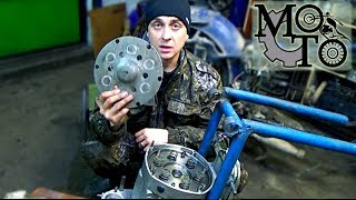 Установка сальника КВ, маховика, сборка сцепления на Мотоцикле Днепр. ( На Урале тоже самое ).