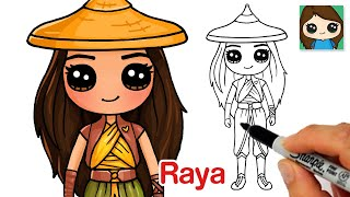 How to Draw Raya | Raya and The Last Dragon