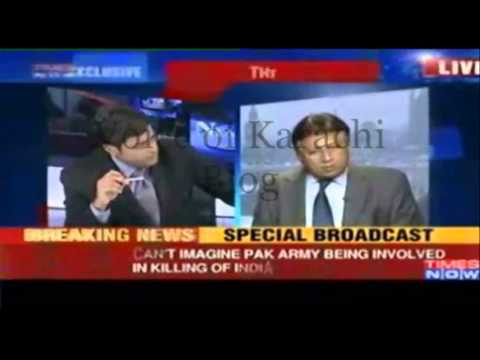 Musharraf Slams Times Now anchor