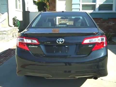 2012 toyota camry se trunk features youtube. Black Bedroom Furniture Sets. Home Design Ideas