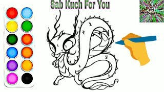 #3 How to Draw Cartoon Dragon very easy for children's Step by step. easily 🔥