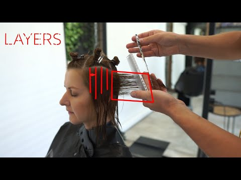 how to: layered haircut tutorial - layered haircut techniques