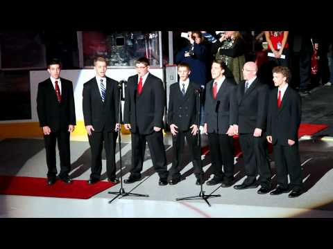 First Baptist Christian School of Elyria's Boys Ensemble Singing the National Anthem 3/27/2012