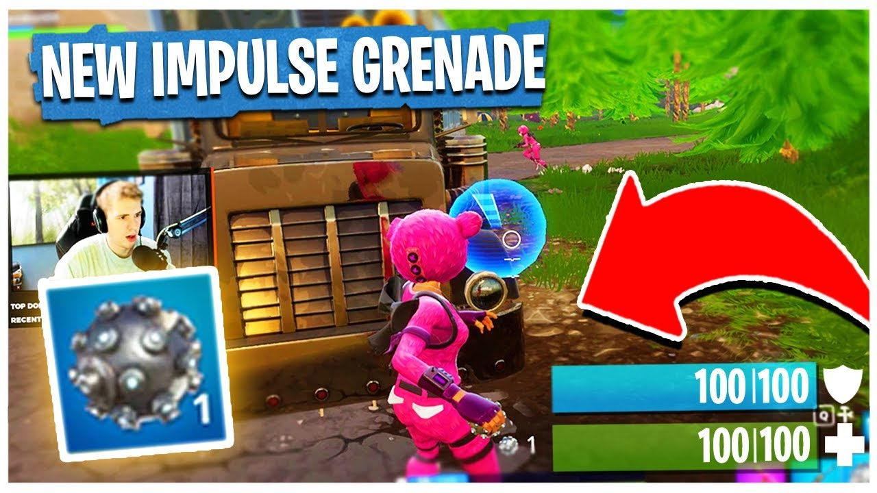 *NEW* IMPULSE GRENADE GAMEPLAY in FORTNITE: Battle Royale (AWESOME)