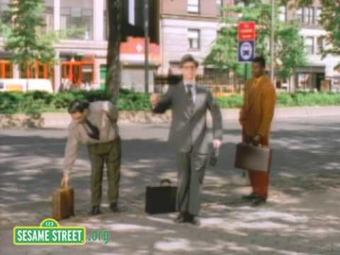 Sesame Street: Bill Irwin Break Dances at Bus Stop