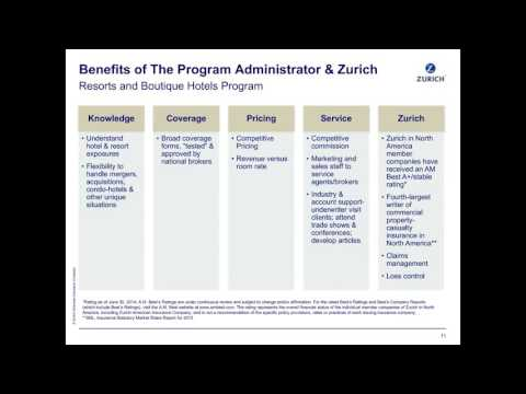 Zurich's Resorts and Boutique Hotels Program