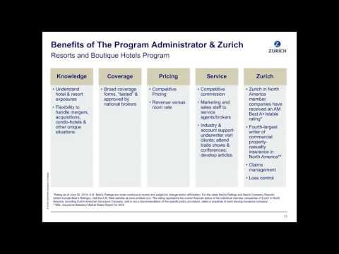 Zurich's Resorts and Boutique Hotels Program