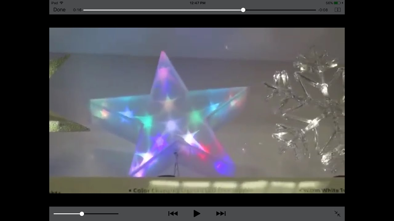 target christmas lit led plastic star tree topper wondershop 2016 youtube. Black Bedroom Furniture Sets. Home Design Ideas