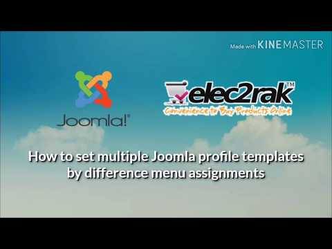 How to use multiple Joomla profile templates by difference menu assignments thumbnail