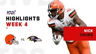 Nick Chubb Educates the Ravens w/ 183 Total Yds & 3 TDs | NFL 2019 Highlights