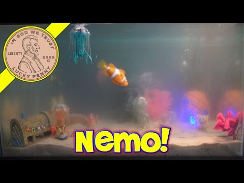 Spongebob's Bikini Bottom Fish Tank, New Nemo Robo Fish!