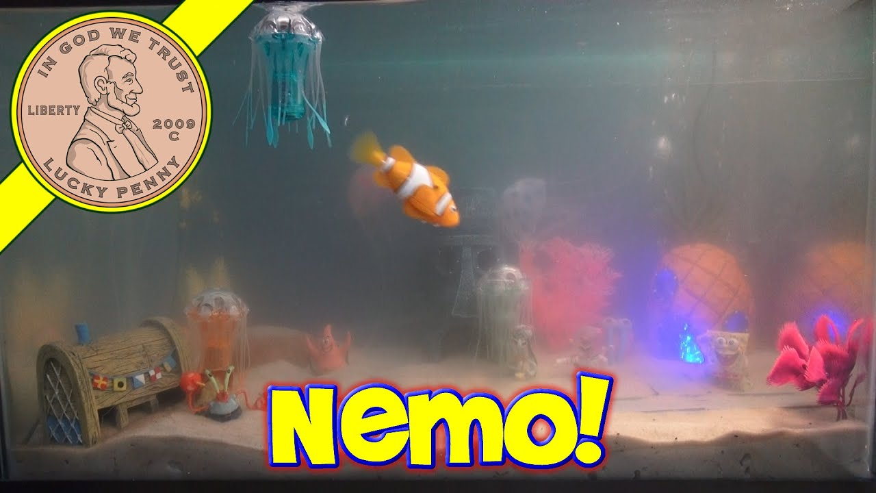 Fish in nemo aquarium - Spongebob S Bikini Bottom Fish Tank New Nemo Robo Fish