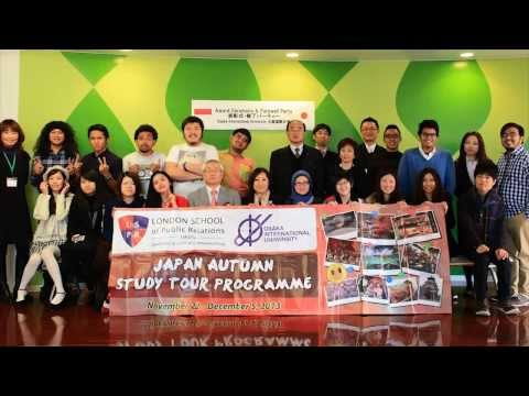 Japan Autumn Study Tour (Osaka International University)