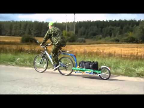 Велоприцеп своими руками  Handmade Bicycle Trailer