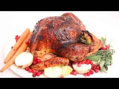 Apple Cider Glazed Thanksgiving Turkey Recipe - Laura Vitale - Laura in the Kitchen Episode 673
