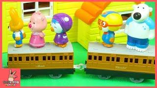 뽀로로 친구들 어디갔어요? 뽀로로 숨바꼭질 놀이 시간 ♡ 뽀로로 장난감 애니 만화 놀이 Pororo hide play toys | 말이야와아이들 MariAndKids