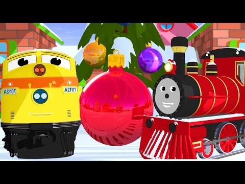 Новогодний мультик про машинки: паровозик Шонни и Генри наряжают елку. Развивающий мультфильм