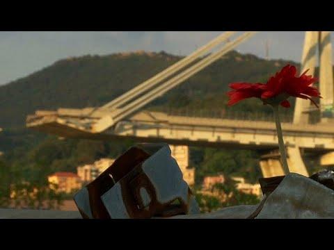 Génova faz um minuto de silêncio, um mês depois da queda da ponte