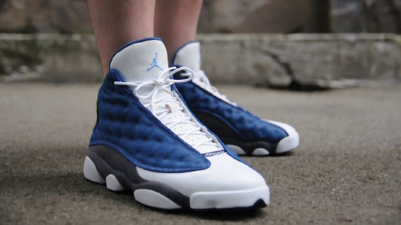 2010 Air Jordan 13 (XIII) Retro   Flint Grey   on feet womft - YouTube 0f6bc3fbeb