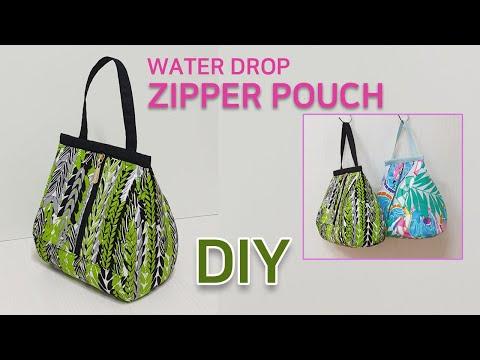 DIY water drop zipper pouch/Make a zipper pouch/Pattern sharing/물방울 지퍼파우치만들기/패턴공유
