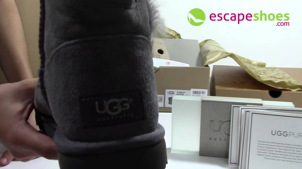 3e0e4db498c UGG Australia Bailey Button Grey 5803