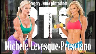 Gregory James BTS Fitness Cover shoot | IFBB PRO Michele Levesque Presciano