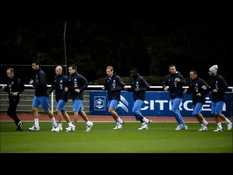 French team trains ahead of qualifier against Spain