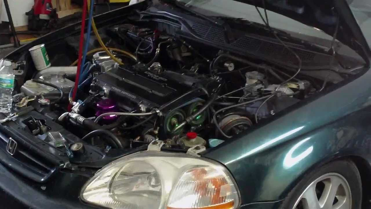 A C In A Civic Ek Turbo Gsr Quot How To Quot Youtube