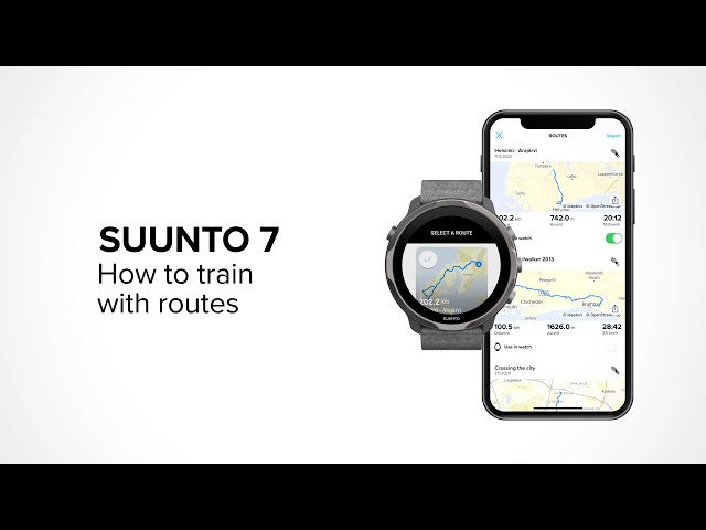 How to train using routes with Suunto 7