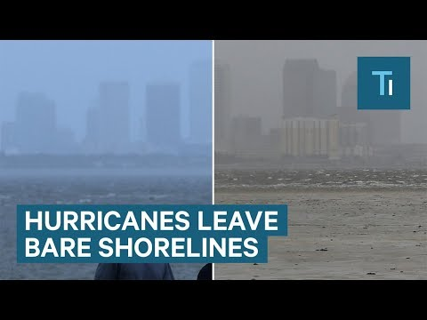 Why water disappears from shorelines during a hurricane