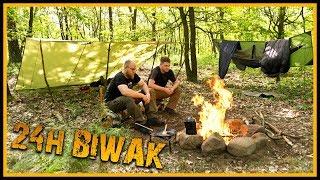 24h Übernachtung mit feinstem Essen im Wald - Outdoor Bushcraft Overnighter Biwak