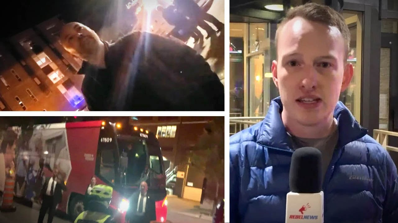 Montreal police harass Rebel reporters while Trudeau sneaks out back door | Keean Bexte