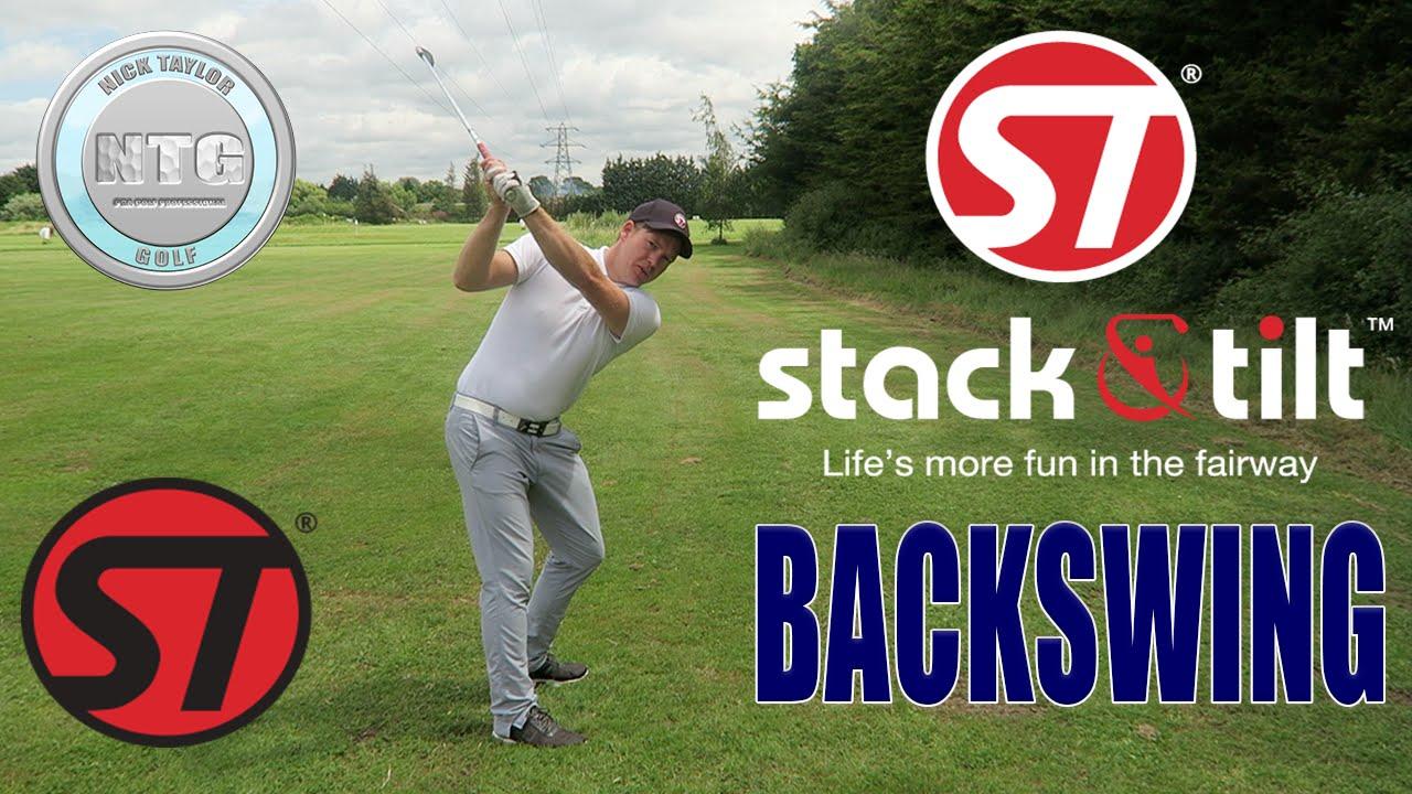 Stack Tilt Backswing Golf Tips Lesson 11 Youtube