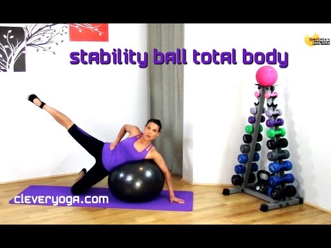 FREE Fit ball Stability Ball Total Body BARLATES BODY BLITZ with Linda Wooldridge