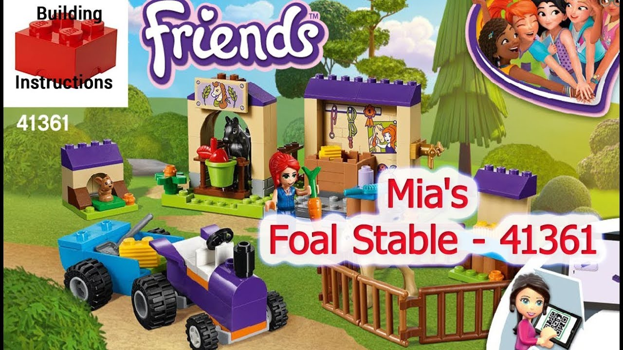 Mias Foal Stable 41361 Lego Friends Lego Video Instructions