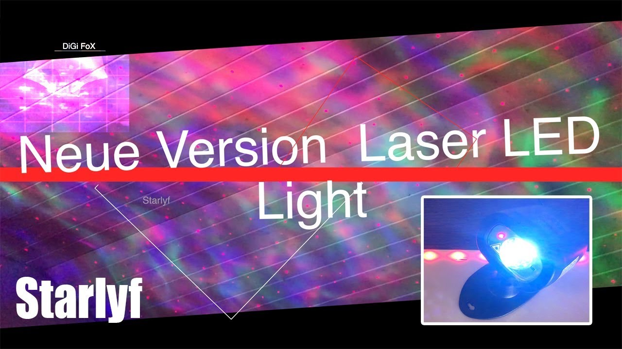 Test Led Weihnachtsbeleuchtung.Starlyf Laser Led Light Neue Version Coole Weihnachtsbeleuchtung