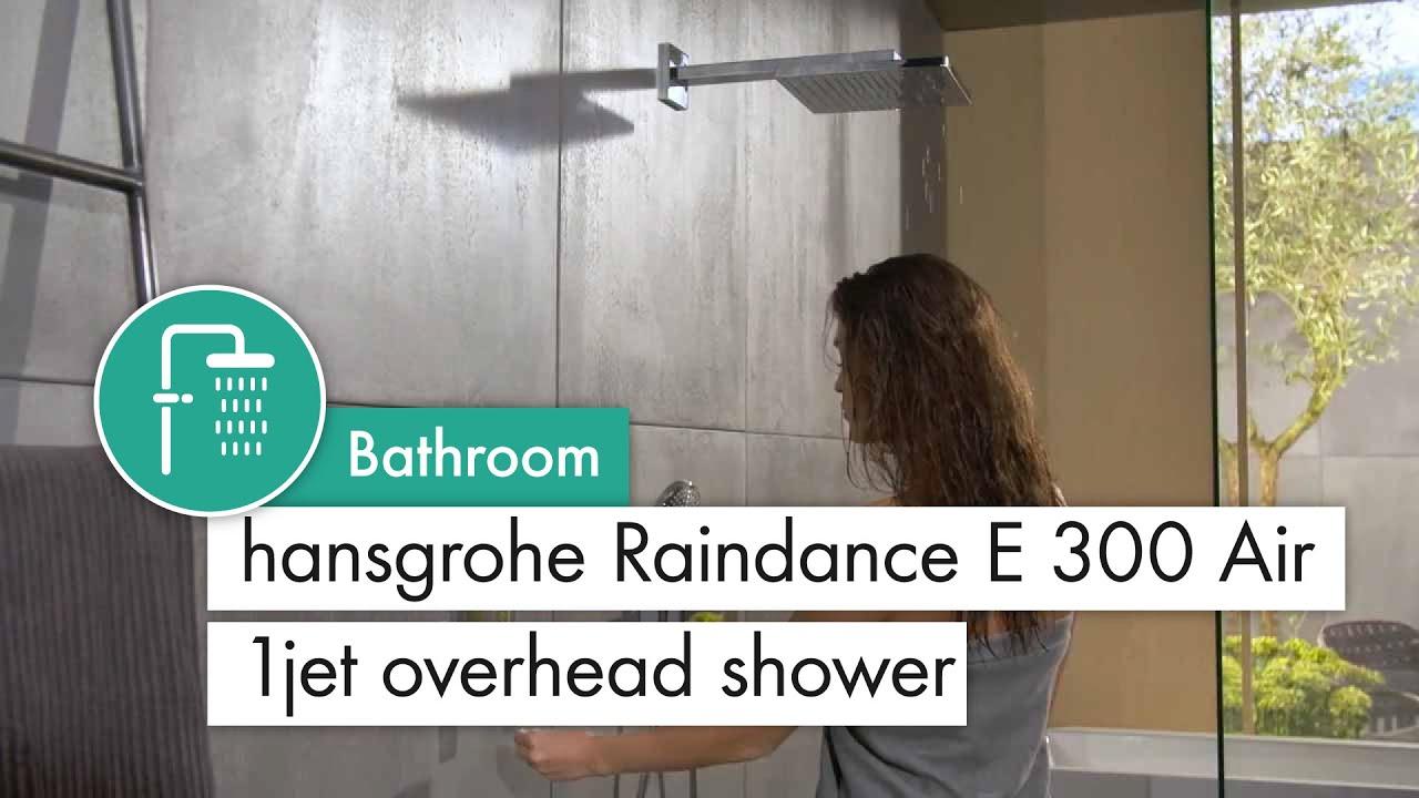 hansgrohe Raindance E 300 Air 1jet overhead shower with Metropol ...