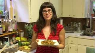 Wild Rice Pilaf With Grilled Pineapple And Zucchini