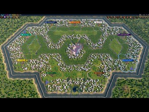Civ 6 AI Only Timelapse: Secret Garden |