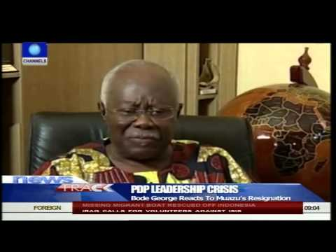 Mu'azu's Resignation Good For The Party - Bode George