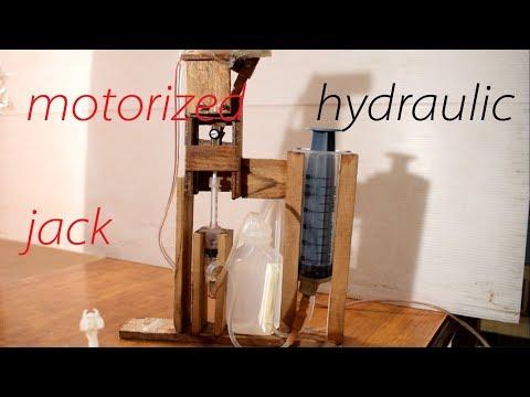 how to make a powerful  automatic hydraulic  jack/motorized hydraulic jack