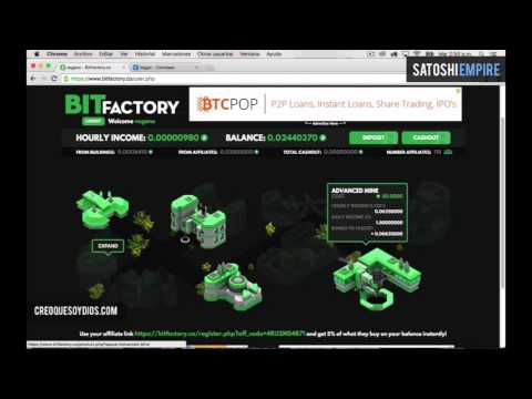 BitFactory 0.024 BTC Payout Proof Bitcoin Power Plant