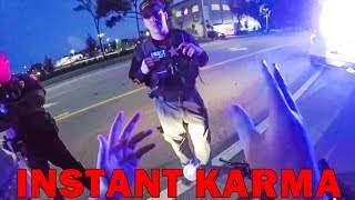 INSTANT KARMA, CAGER GOT WHAT HE DESERVED | POLICE vs MOTORCYCLE |   [Episode 100]