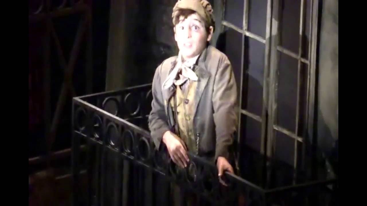 joshua colley as gavroche broadway 2014 youtube