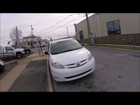 2008 White /Tan Toyota Sienna CE FWD 7-Passenger Seating (5TDZK23C98S) with an 3.5L V6 EFI DOHC 24V engine, 5-Speed Automatic Overdrive transmission, located at 577 Chester Pike, Prospect Park, PA, 19076, (610) 237-1015, 39.886154, -75.302338 - Photo #0