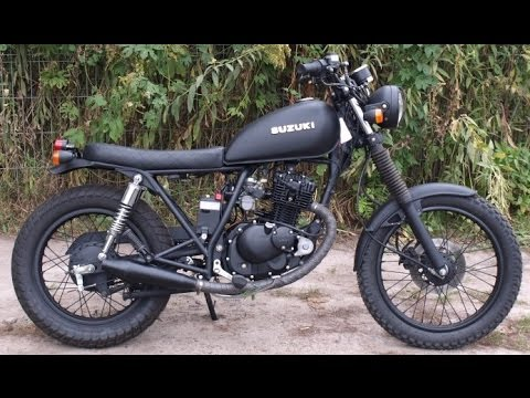 suzuki gn 125 scrambler youtube. Black Bedroom Furniture Sets. Home Design Ideas
