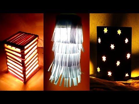Diwali light DIY - how to make  paper lamp lantern   diwali light Hanging light